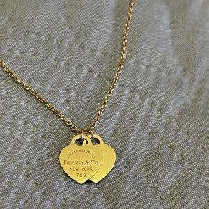Tiffany & Co. 18k Gold Return to Tiffany Double Heart Tag